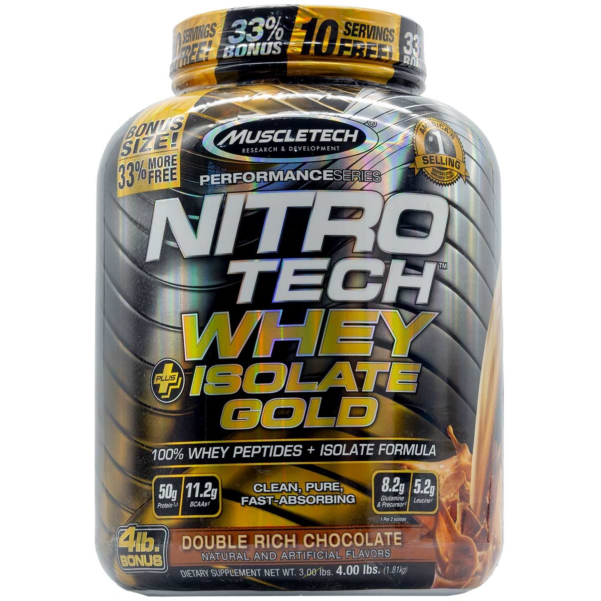 18fd7a82b Whey Gold NitroTech Isolado - Muscletech (1
