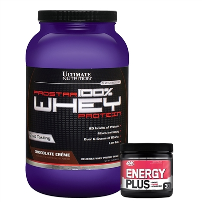 c7e8be94c COMBO Prostar 100% Whey Protein (907g) - Ultimate Nutrition + Energy Plus (