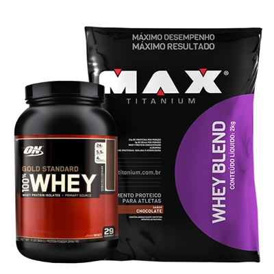 eab978df6 COMBO Whey Gold Standard (900g) + Whey Blend (2kg) - Matéria Prima ...