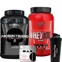 ce5bbe141 COMBO Super Whey 100% Pure (907g) + Protein 7 Blend (837g)