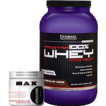 2d6653ae8 COMBO Prostar 100% Whey Protein (907g) - Ultimate Nutrition + Creatina (150g