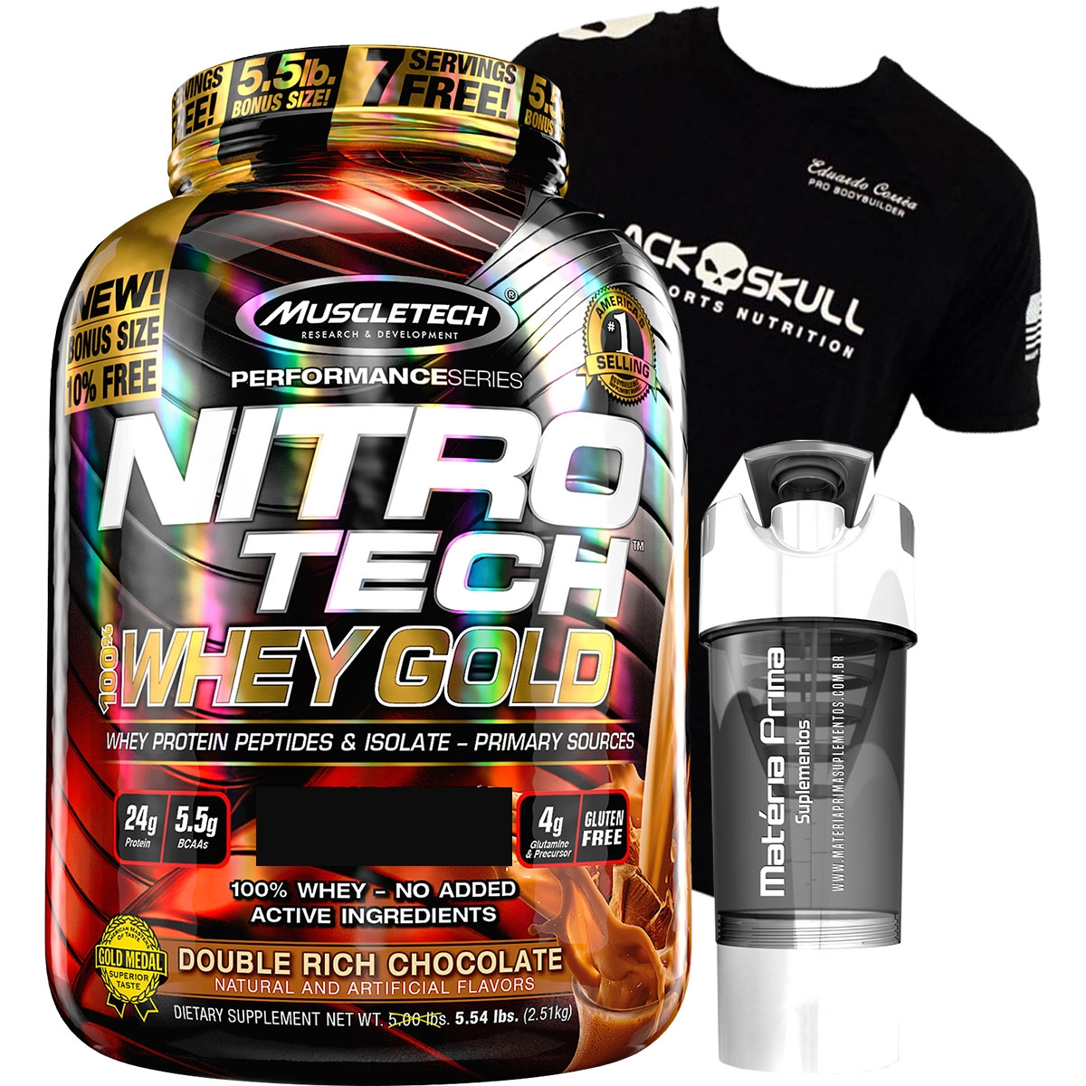 08d532869 NitroTech 100% Whey Gold (2.49kg) - Muscletech + Fit Top Shaker Cyclone ...