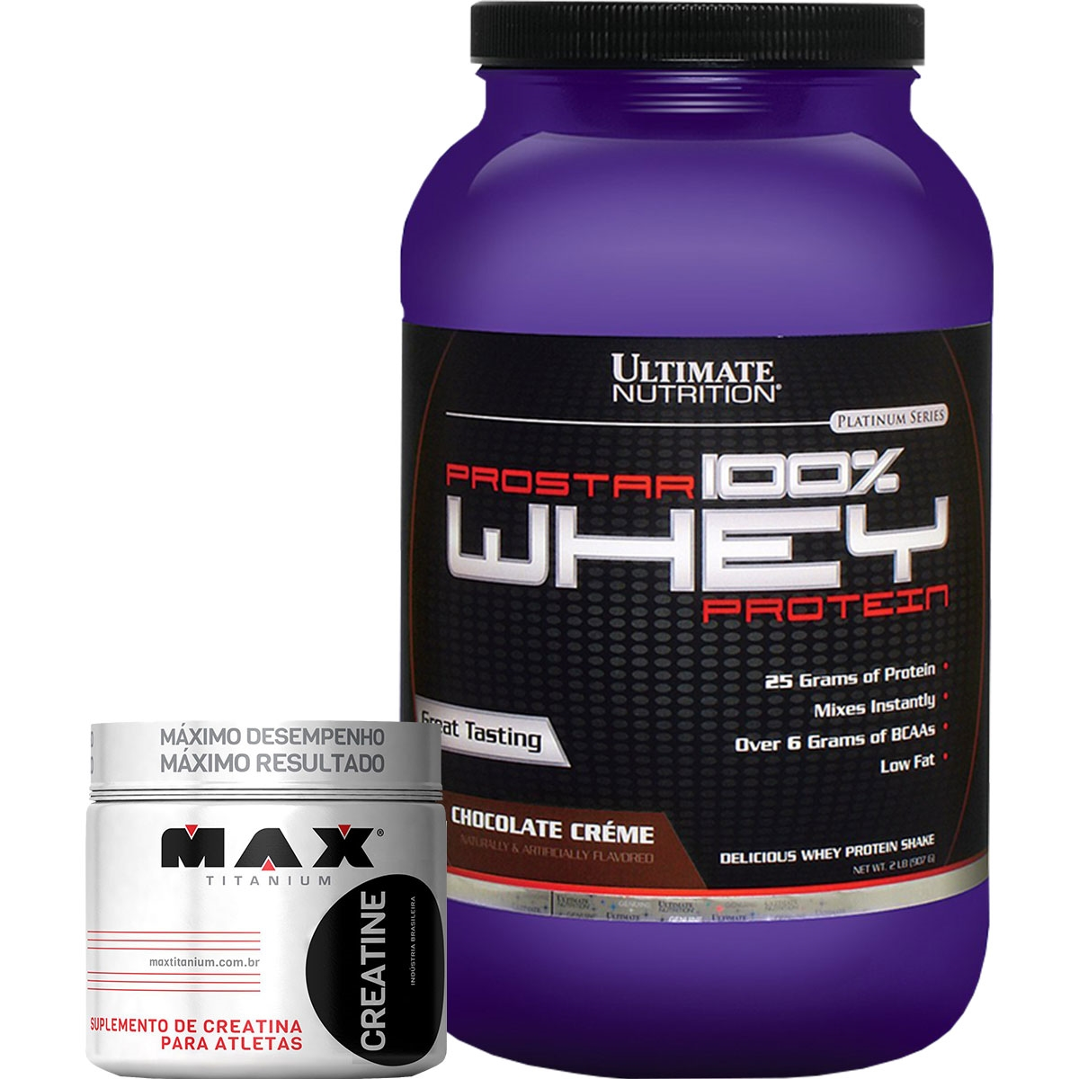 9304774e0 COMBO Prostar 100% Whey Protein (907g) - Ultimate Nutrition + Creatina (150g