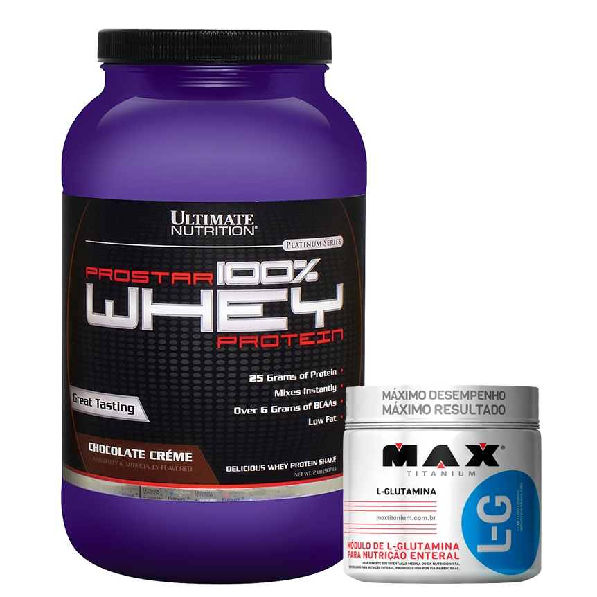cfcb58ee9 COMBO Prostar 100% Whey Protein (907g) - Ultimate Nutrition + L-Glutamine